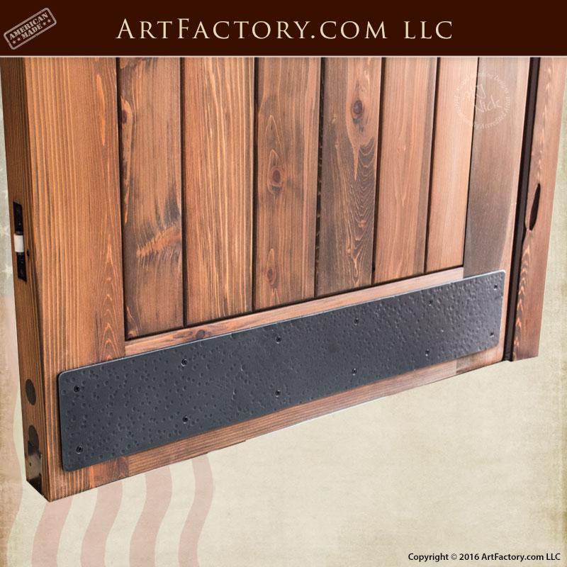 Entrance Doors Custom Arched Doorway Entry Wood Plank Design