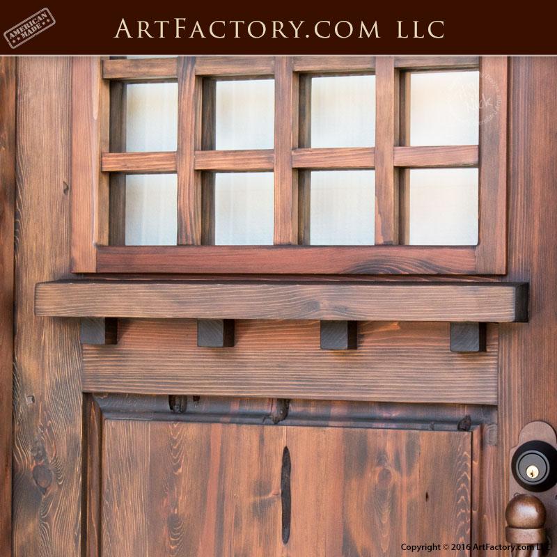 Divided Glass Craftsman Door Custom Solid Wood Entrance