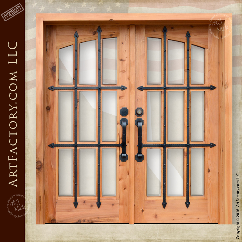 French Iron Glass Doors