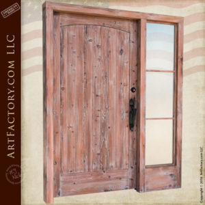 handcrafted solid wood front door