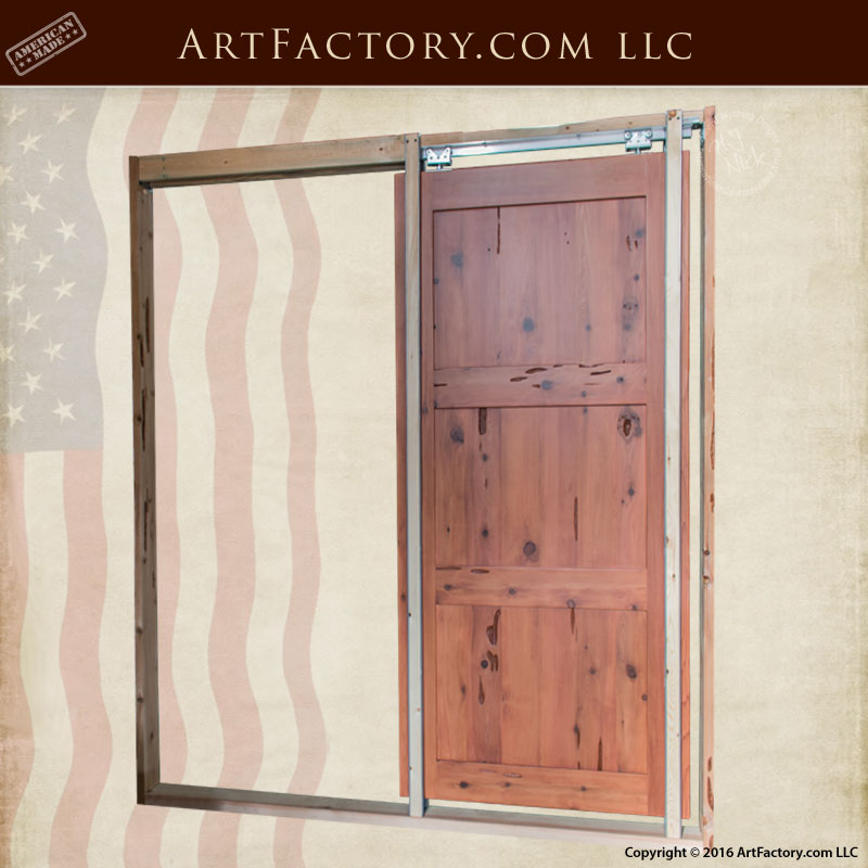 Classic custom pocket door space saving solid wood door for Custom solid wood doors