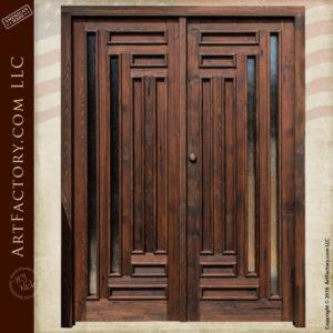 Handmade Exterior Double Doors