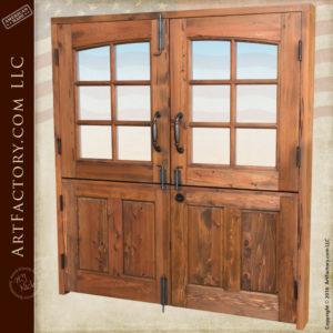 Dutch double doors