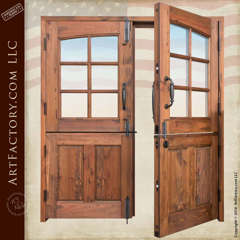 Dutch Double Doors Custom Handmade By Master Craftsmen