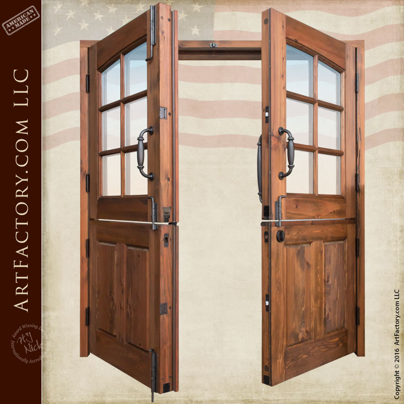 Solid Wood Double Dutch Entry Doors Custom Exterior