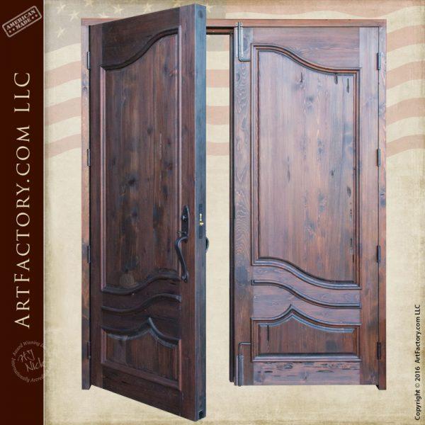 Solid Wood Front Entry Doors European Double Doors