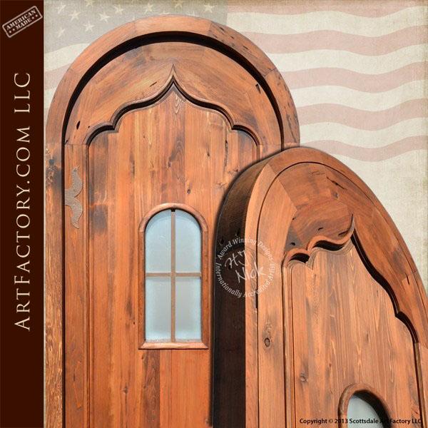 gothic arched front door