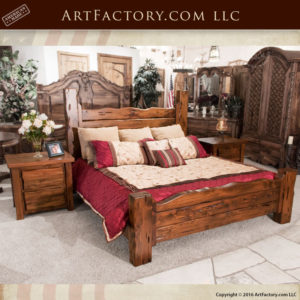 all wood custom bedroom set