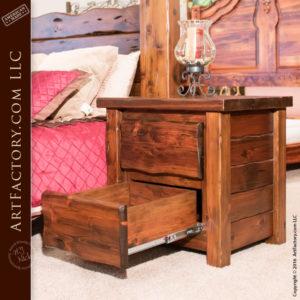 all wood custom bedroom set