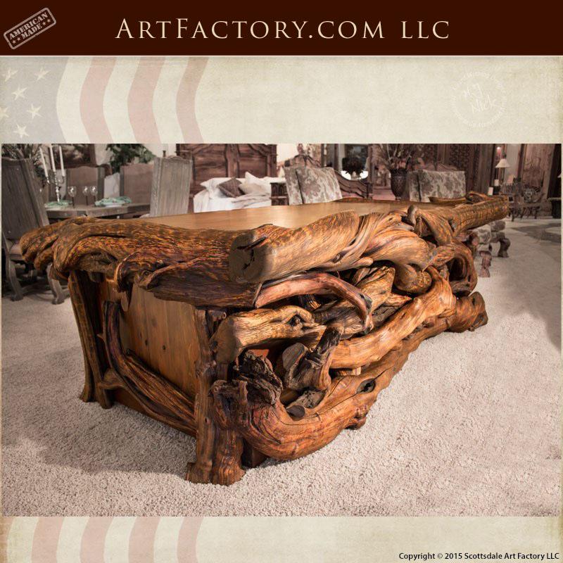 Custom Log Style Executive Desk