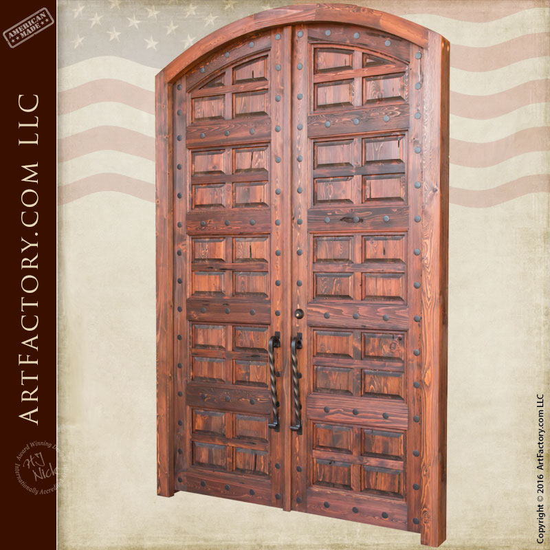 wood panel entrance doors