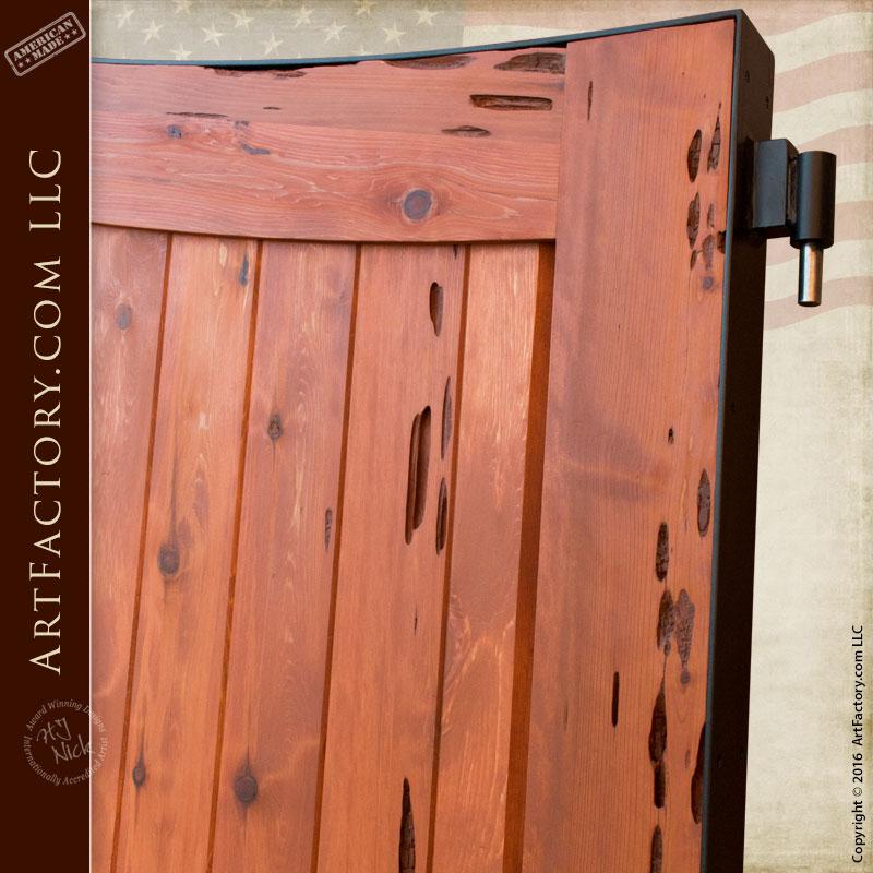 Custom Wood Gates Bell Curve Driveway Gates Scottsdale