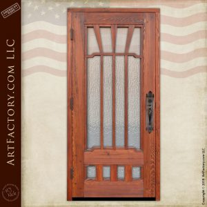 textured glass craftsman door