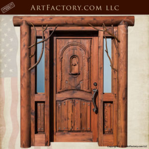 custom log cabin door
