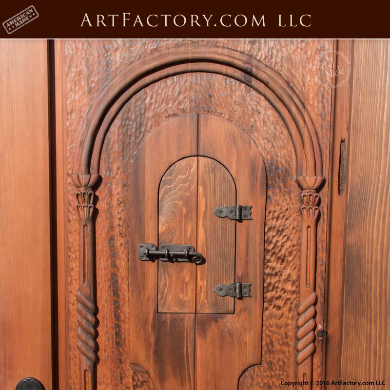 Custom Log Cabin Door Rustic Solid Wood Entrance With