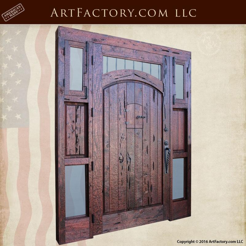 Five Window Custom Door Entrance With Sidelights