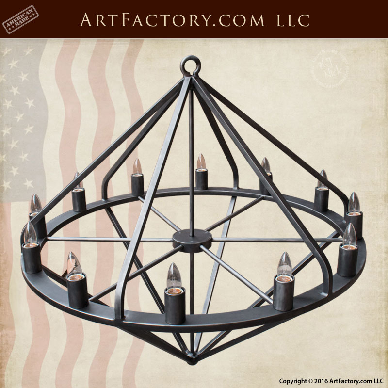 Custom Hand Forged Iron Chandelier