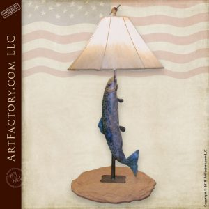 Rainbow Trout Table Lamp