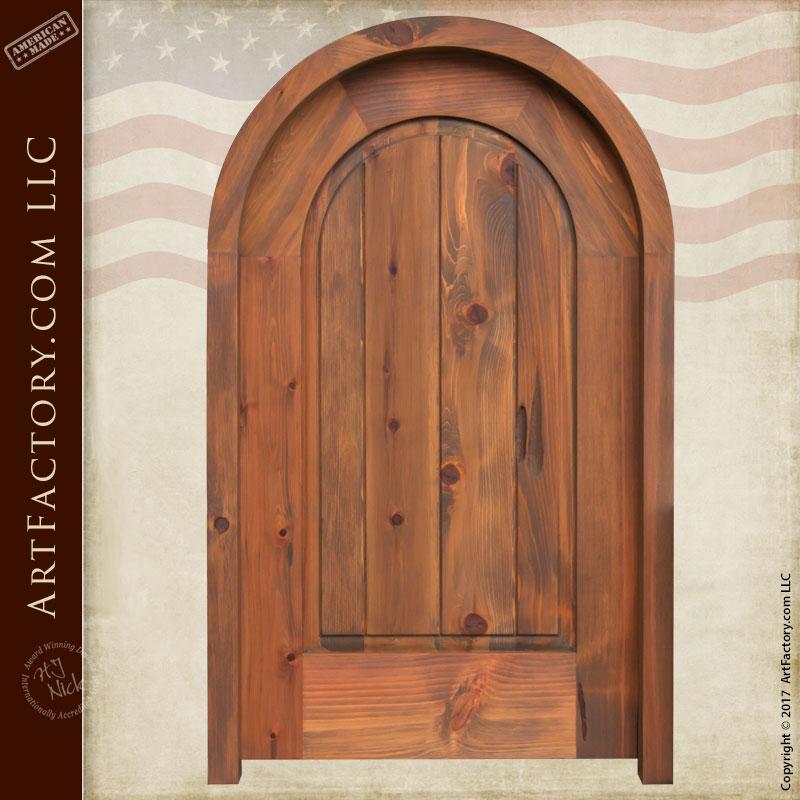 arched solid wood door