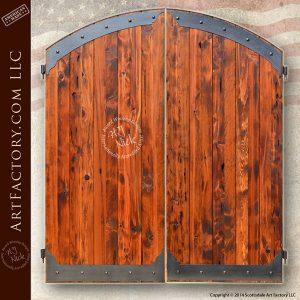 wood entrance gate