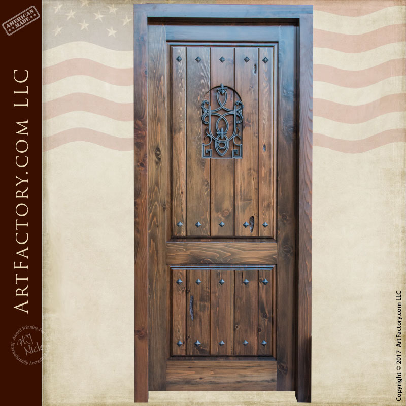 Custom Solid Wood Entry Door With Old World Charm