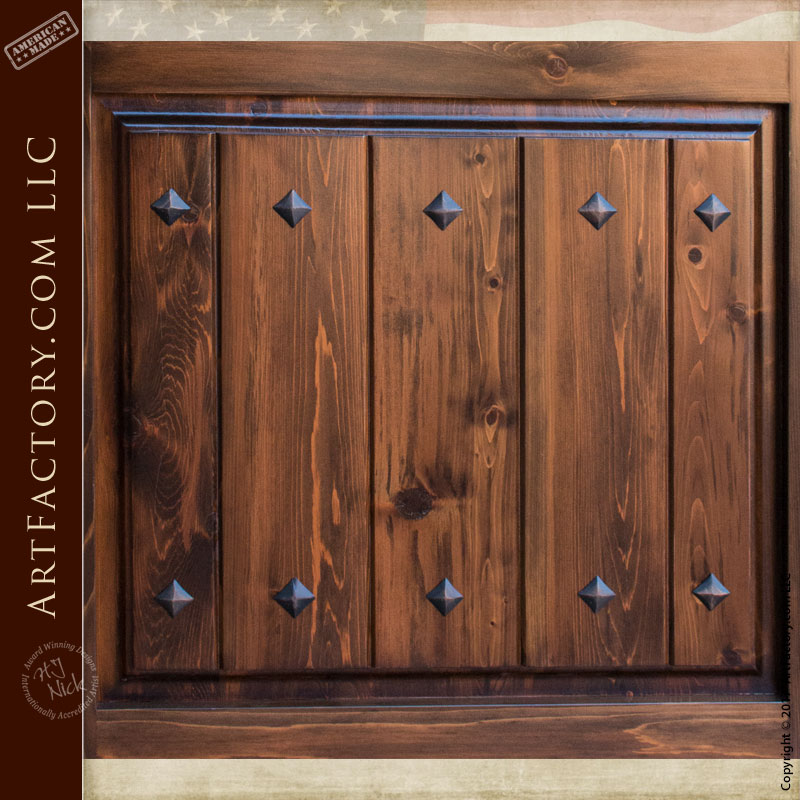 Custom solid wood entry door with old world charm for Custom wood entry doors