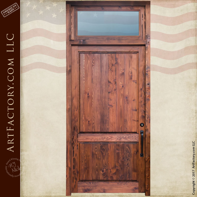 custom solid wood front door