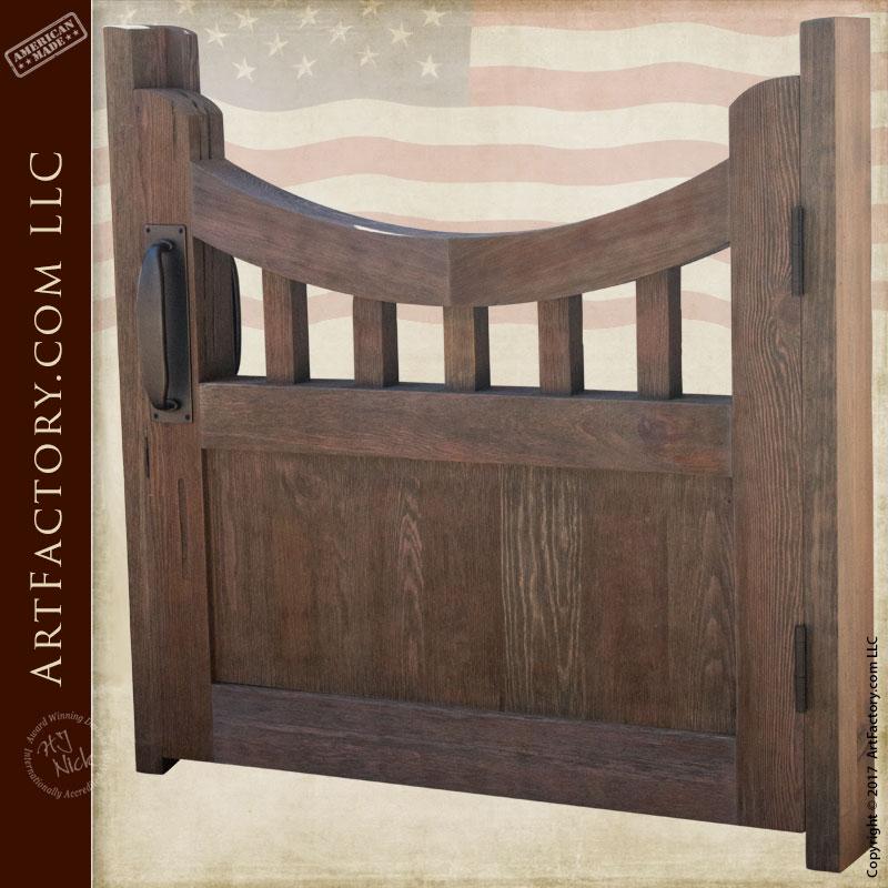 Fine Art Garden Gate Craftsman Wooden 4 Quot Thick Garden Gate