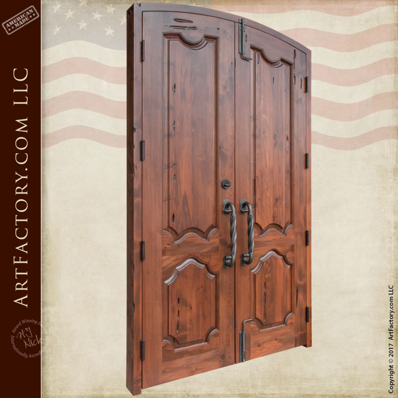 Double Doors Custom Hand Carved