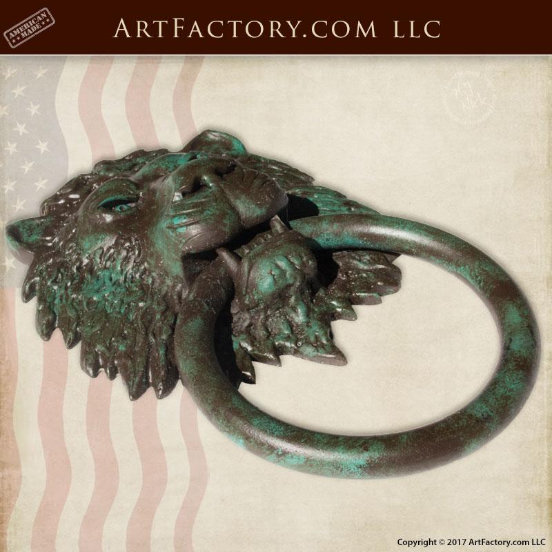 Lion Head Custom Door Knocker Made With Hammer Amp Anvil