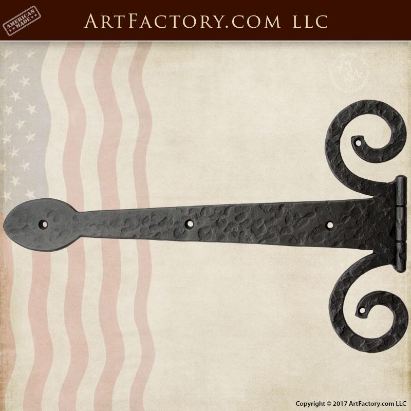 gothic iron strap hinge