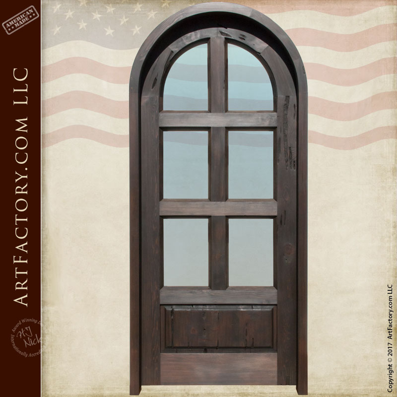 Arched glass panel door handcrafted solid wood and dual - Solid wood interior doors with glass ...