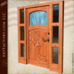 Celestial Hand Carved Door