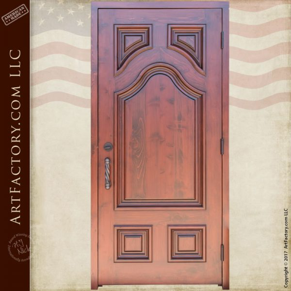 Solid wood door with custom hardware for 15 panel solid wood door