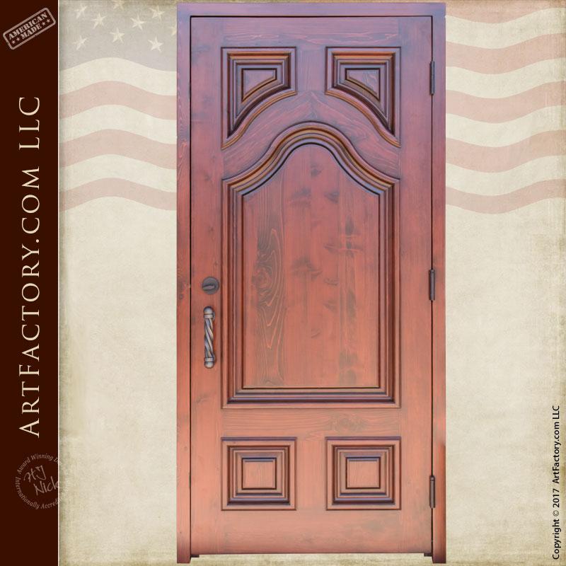 Classic decorative solid wood door fine art iron hardware for 15 panel solid wood door