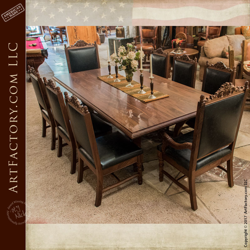 Hand Carved Dining Table Fine Art Solid Wood Dining Furniture - Custom kitchen table and chairs