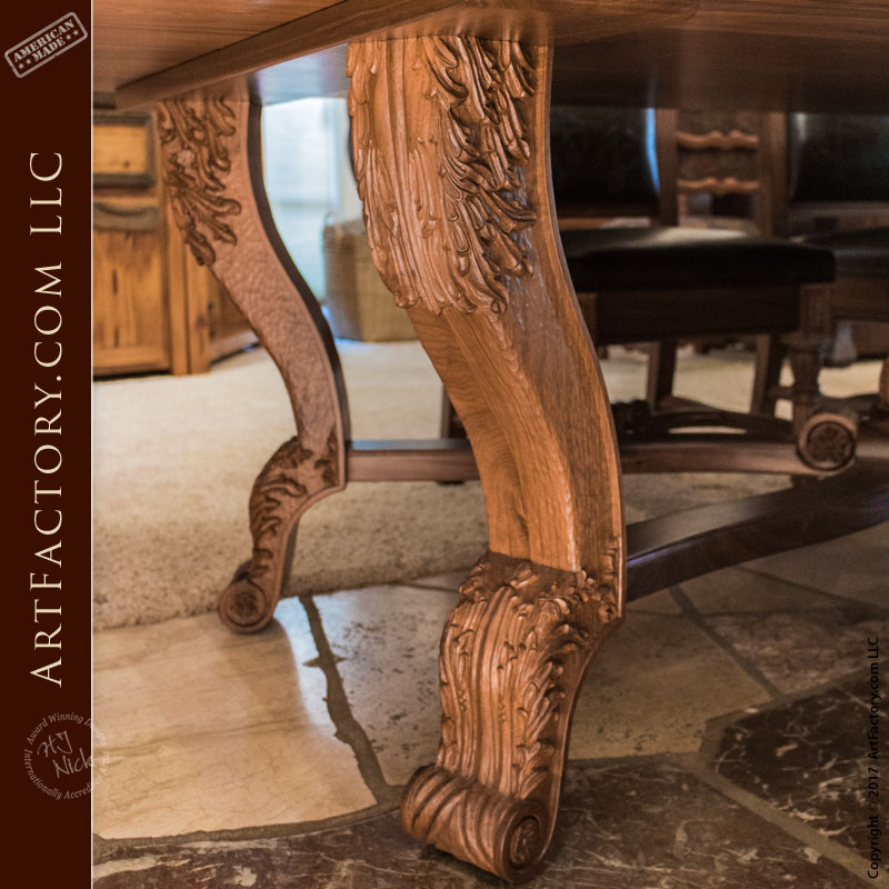 Hand Carved Dining Table Fine Art Solid Wood Dining Furniture