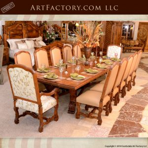 hand carved cherry dining table
