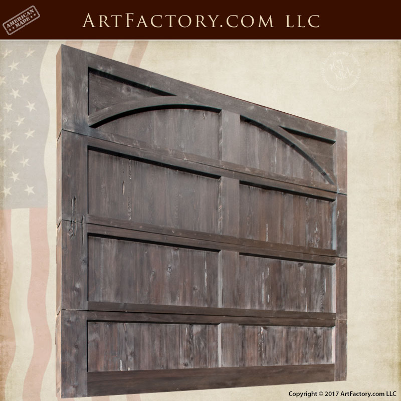 Custom solid wood garage door thick rustic style for Custom solid wood doors