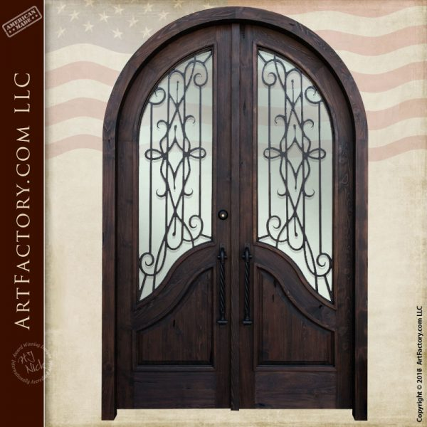 elegant arched double doors