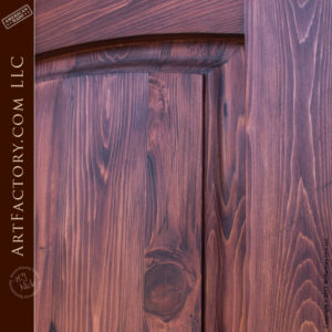 two panel custom solid wood entry door