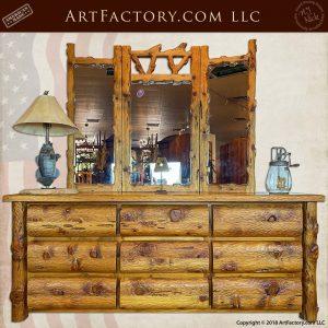 Custom Log Bed: Genuine Solid Wood, Handmade By Master Craftsmen