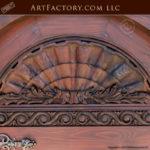 lion head arched door