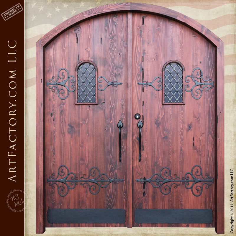 medieval style fortress doors
