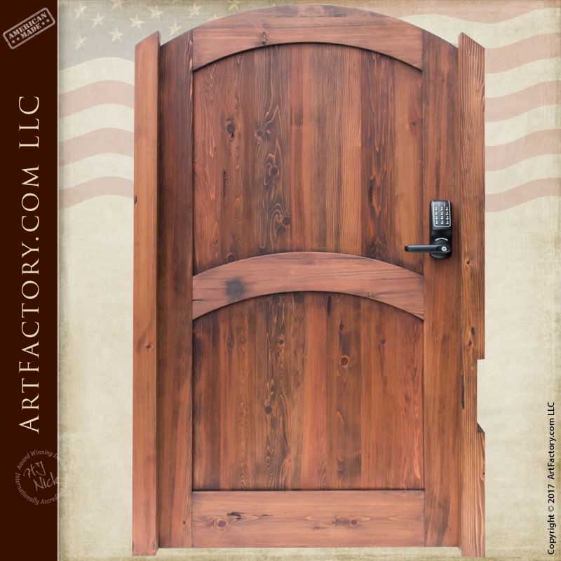Solid Wood Entry Gate: Maximum Security With Digital