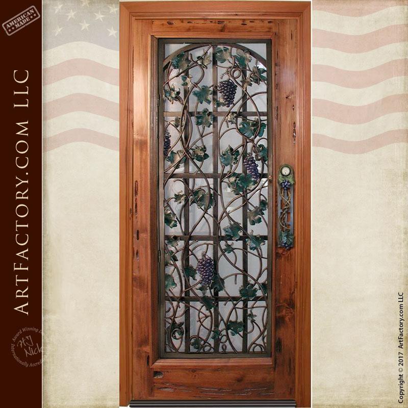 Wine Cellar Door With Custom Grape Vine Security Grill u2013 3012WI & Wine Cellar Door: With Custom Grape Vine Security Grill