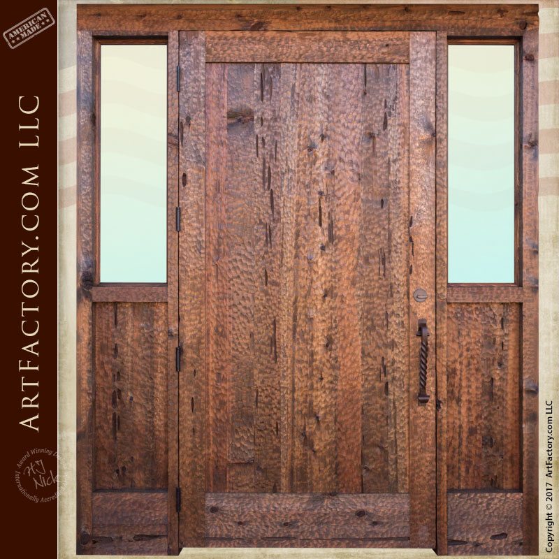 Custom Solid Wood Door Thick Handcrafted Chiseled Door