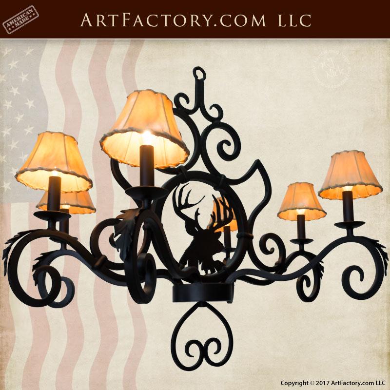elk lodge theme chandelier