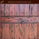 castle entrance door, solid wood door