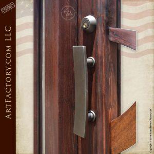 modern art style door with modern Art Deco door handles